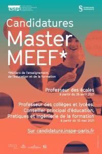 Pré-inscriptions au Master MEEF